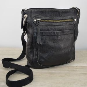 The Sak Black leather crossover purse